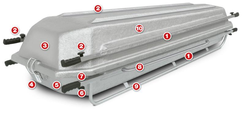 transport coffin GFRP workmanship