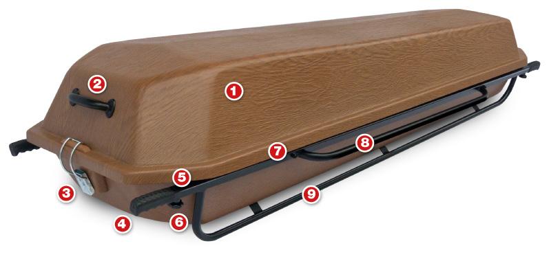transport coffin HIPS workmanship