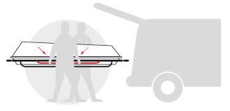 Transportsarg mit seitlichen Tragebügeln